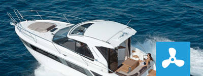 Polyester motor yachts